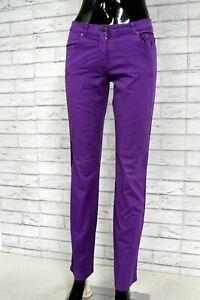 JECKERSON-Pantalone-Viola-Donna-Taglia-Size-42-Jeans-Pants-Woman-Hose-Casual