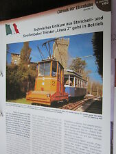 Chronik der Eisenbahn 1B: 1902 Triest Linea 2 Kombination Standseilban Trambahn