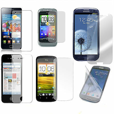 CLEAR LCD SCREEN PROTECTOR GUARD FILM COVER FOR VARIOUS MOBILE DEVICES