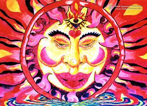 POSTCARD-UV-Blacklight-Fluorescent-Glow-In-The-Dark-Psychedelic-Psy-Goa-Art-Card