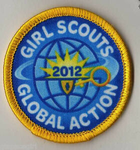 girl scout badge patch global action 2012 earned award key