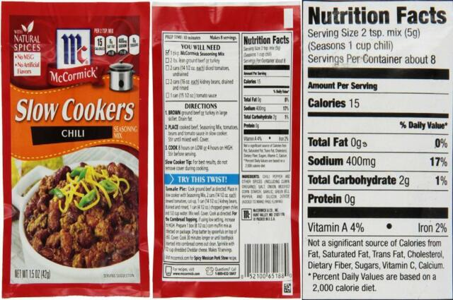 Mccormick Slow Cookers Southern Bbq Ribs Seasoning Mix 1 25 Oz For Sale Online Ebay