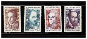 S23357-France-MNH-1967-Famous-Persons-4v