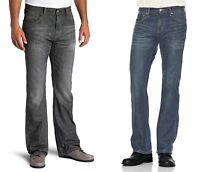 Levis 527 Jeans Mens Slim Boot Cut Leg Low Rise Dark Wash 100% Cotton Denim