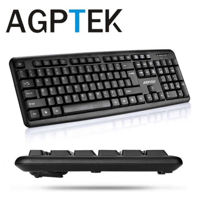 AGPtek USB Wired Keyboard for Desktop PC Laptop Windows 10 / 8 / 7 / Vista  / XP