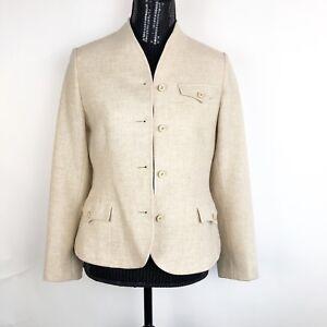 Devon-Hall-by-Robert-Paul-Taboh-Size-10-Ivory-Wool-Blazer-Jacket-Vintage-USA