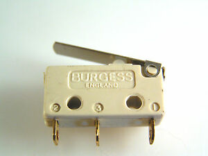 Burgess-V4T7Y1GP-Microswitch-5A-Lever-Action-Push-Button-SPCO-OM0606A