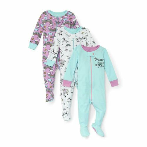 TCP Baby Place Bundles Footed Sleeper Set of 3 Baby Girl Pajamas 18-24 mos