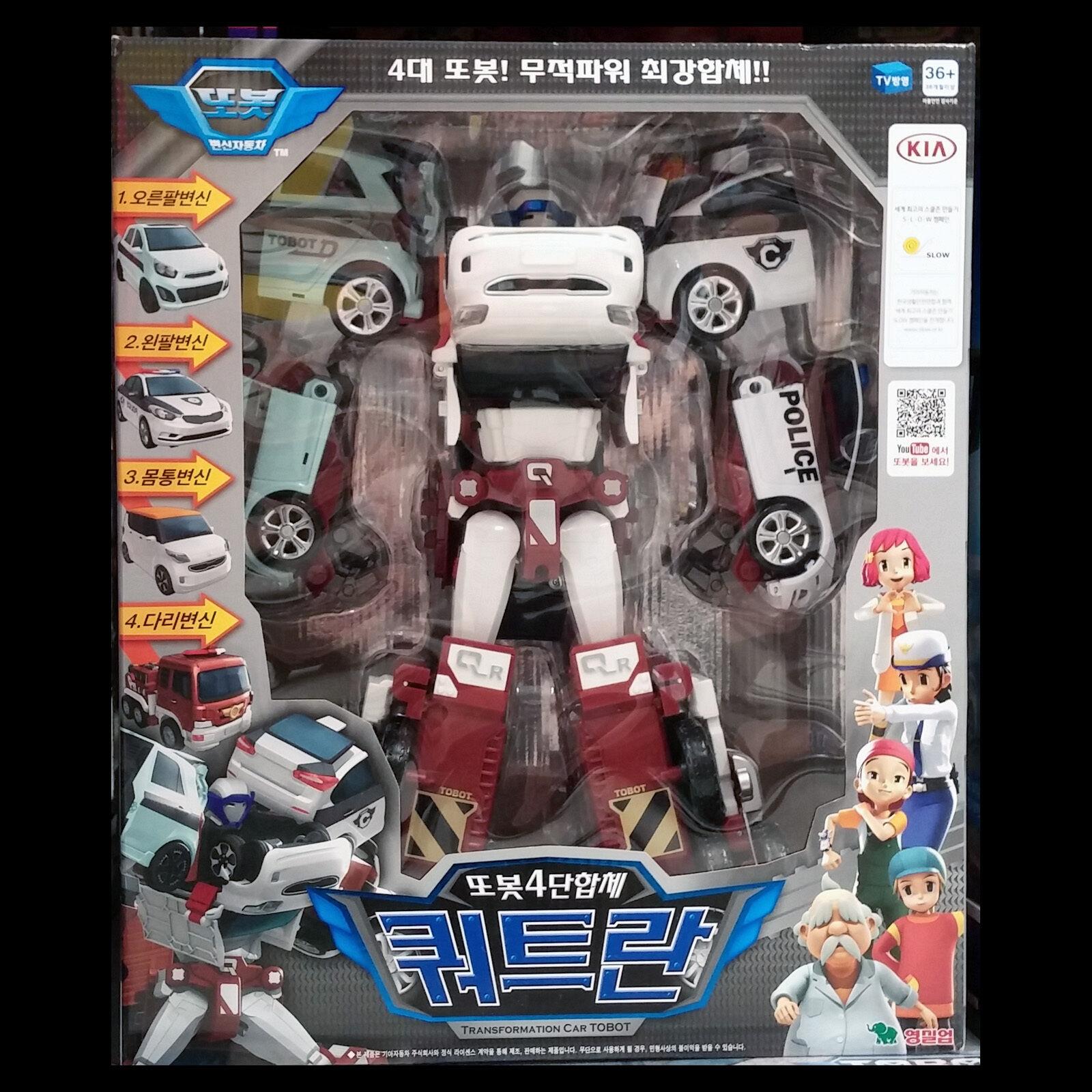 TOBOT Quadrant Quatran C D W R Figures Set Transformers coréen Robot YOUNG Toys