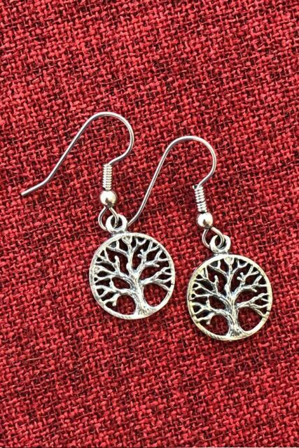 Tree of Life Earrings Australian Made Silver Pewter Celtic Pagan Mystic Wiccan