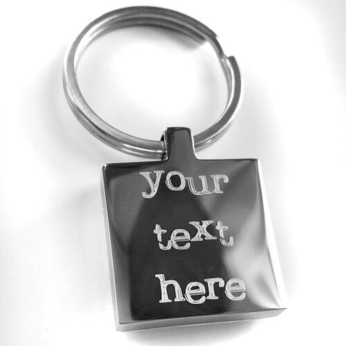 Metal Keyring Personalised  with Photo and Engraving on back Father/'s day Gift