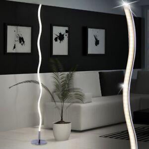 LED-Steh-Leuchte-Esszimmer-Stand-Beleuchtung-schaltbar-DESIGN-Wellen-Lampe-120cm