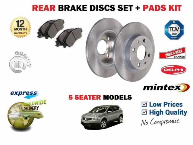 Nissan Qashqai 1.5 1.6 2.0 2007-On Front 296mm Brake Discs /& Pads Set Unipart