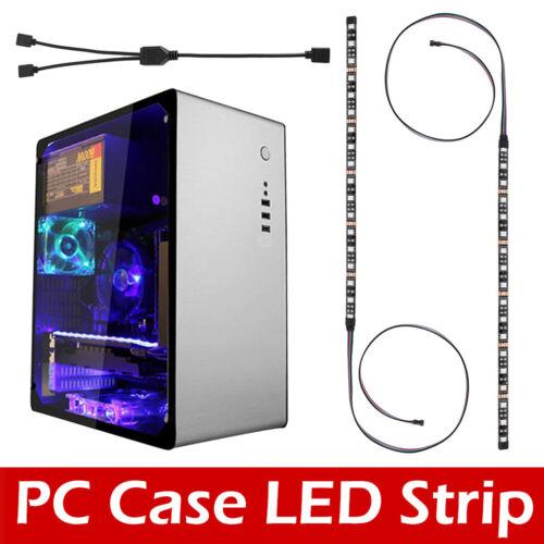 Coque pour PC Gaming Kit RGB LED Bande Télécommande pour Asus Aura Mid Tower PS