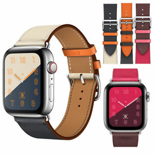 Leather-Watch-Band-Herme-Belt-Single-Double-Tour-For-Apple-Watch-Series-4-3-2-1