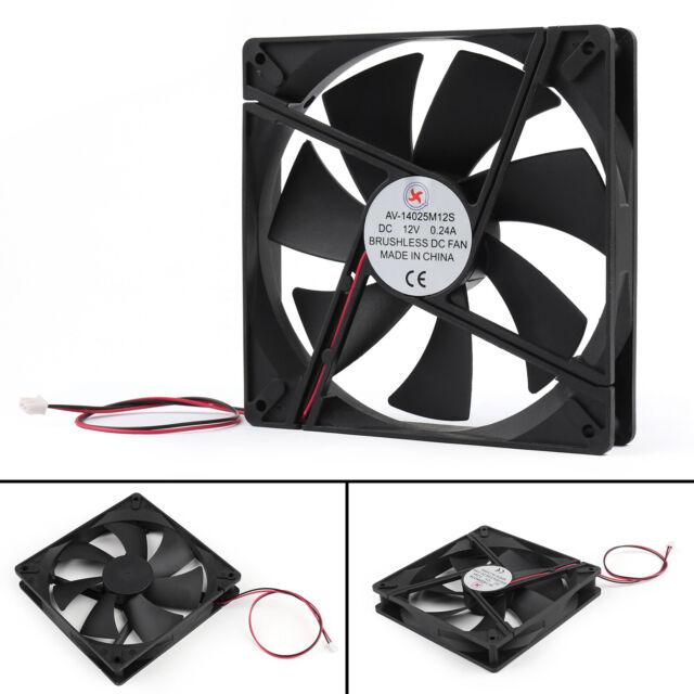 1Pcs DC CPU Computer Cooling Case Ventilador 12V 0.24A 14025s 140x140x25mm EP!