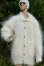 Hand knitted Cardigan Sweater mohair Longhair 100% Goat Down fuzzy fluffy DTolik
