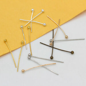 """1/"""" Head Pins with Ball Pkg of 25 Sterling Silver"""