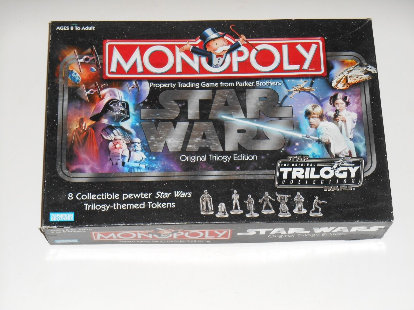 Monopoly STAR WARS Original Trilogy Edition Board Game 8 Movie Character Figures