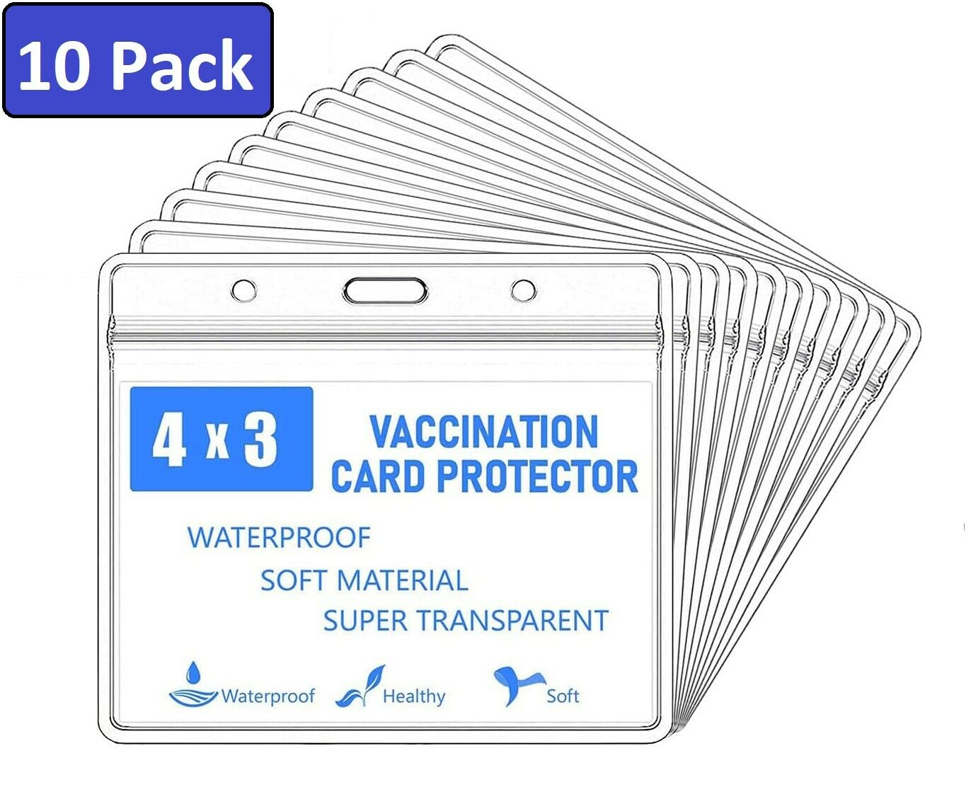 10 CDC Vaccination Record Card Protector 3