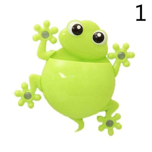 Gecko Frosch Wand Zahnbürstenhalter Badezimmer Saugnapf Zahnbürstenhalter 2 Y9G9