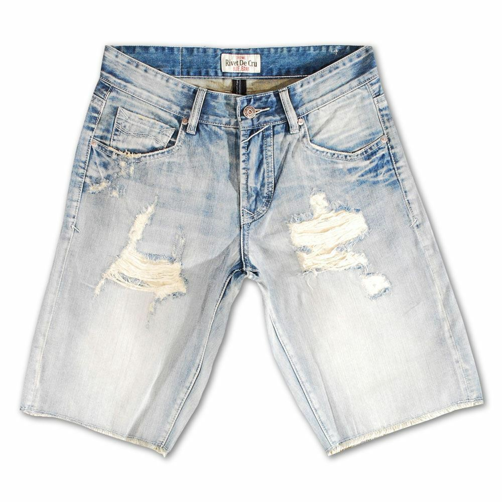 Rivet De Cru White Kiss Denim Shorts