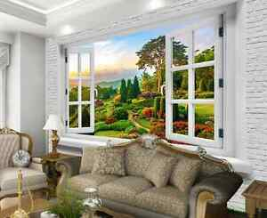 Image Is Loading 3D Window Outside Outlook Wallpaper Decal Decor Home