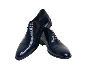factory price fd3ca 0843b Details zu Herren Lackschuhe Smoking Schuhe Gr.44 Blau