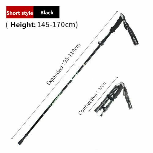 Trekking Walking Hiking Sticks Poles Alpenstock Anti-shock 5 Sections Adjustable