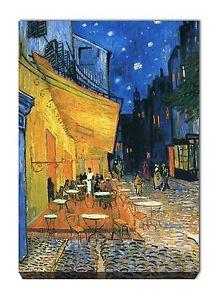 Quadro Moderno Stampa su tela Quadri Moderni cm 100x70 Van Gogh Arte Cafè Notte
