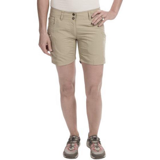 NWT EXOFFICIO Nomad shorts 2 women's khaki water resistant  hiking climbing UPF  outlet on sale