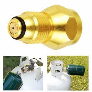 Propane Refill Adapter Lp Gas 1 Lb Cylinder Tank Coupler Heater 100/% Brass 4y