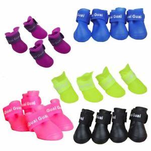 Pet Shoes Booties Rubber Dog Waterproof Rain Boots E1R1