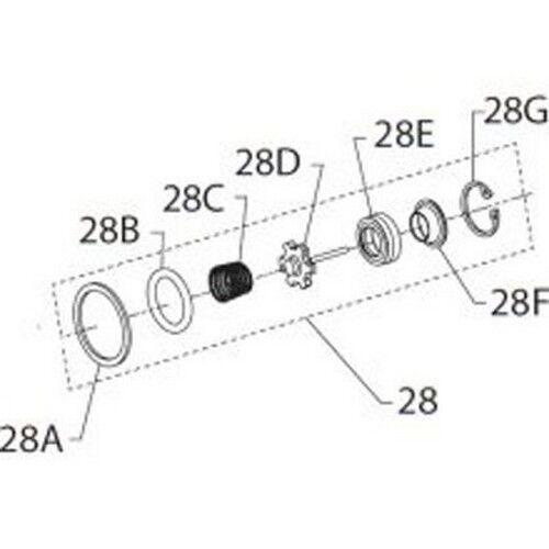 Ingersoll Rand 2135-K303 Inlet Parts Kit