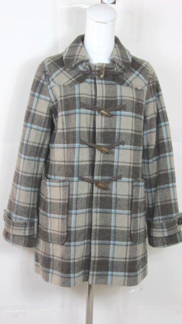 Gap Women's Jacket Sz S Long Sleeve Gray Toggle Wool Blend Lined PeaCoat