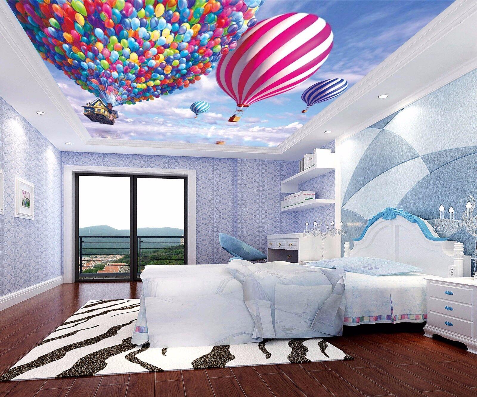 3D Balloon Hut 83 Ceiling WallPaper Murals Wall Print Decal Deco AJ WALLPAPER GB