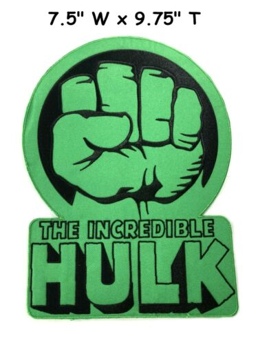 Licensed The Incredible Hulk Fist HUGE Large Back Patch Embroidered Iron Patch