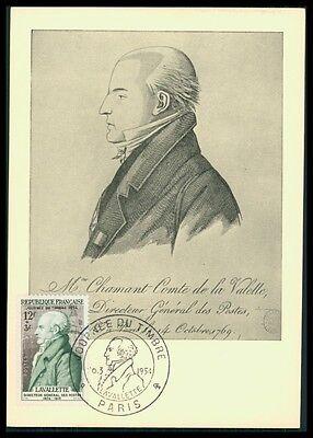 Post & Kommunikation Offen France Mk 1954 Tag Der Briefmarke Journee Timbre Carte Maximum Card Mc Cm Ay13