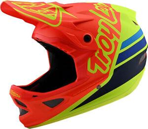 Troy-Lee-Designs-D3-Fiberlite-Full-Face-Bike-Helmet-Silhouette-Orange-Yellow-Lge