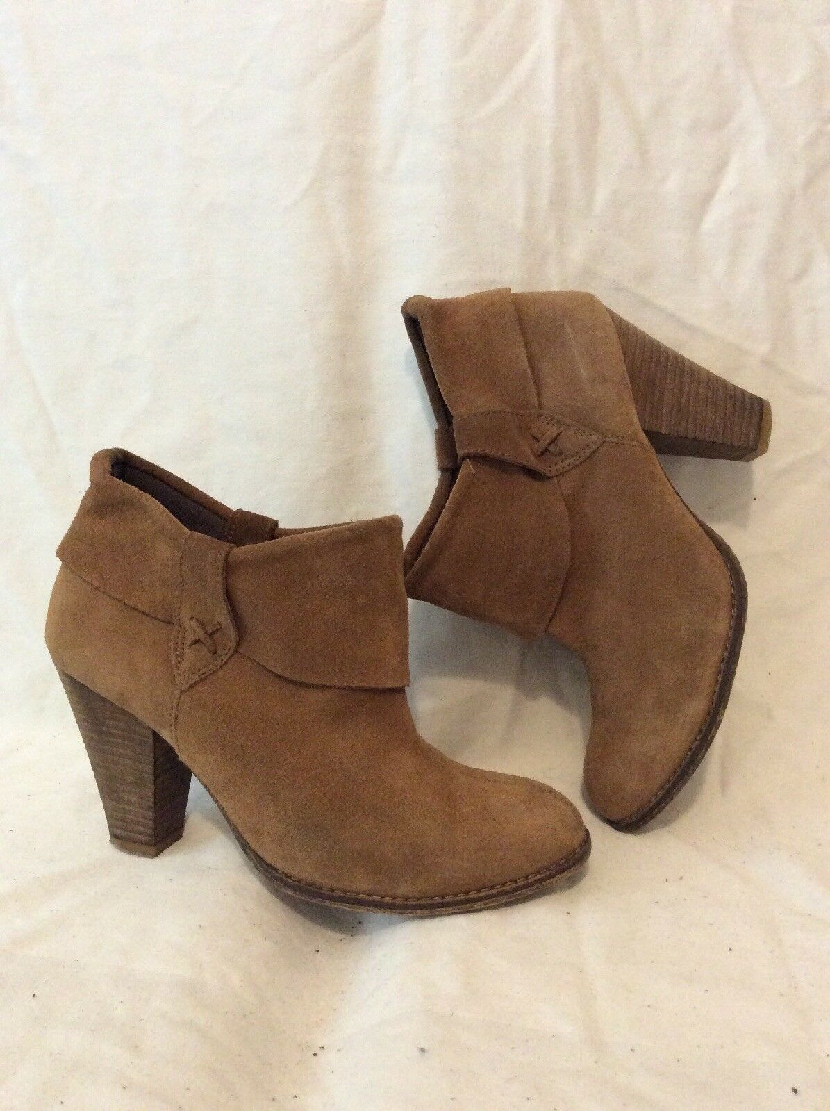 Andrē Brown Ankle Suede Boots Size 38