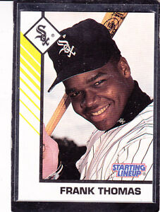 1993 FRANK THOMAS - Starting Lineup Baseball (WHITE) Card - CHICAGO WHITE SOX
