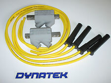 Yamaha FZR600 2.2 ohm Dyna Performance Ignition Coils & Taylor Leads yellow