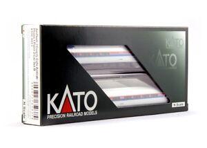 Kato-106-8013-N-Scale-Amfleet-I-Phase-I-2-Car-Set-B-Rolling-Stock