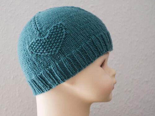 Babymütze tricote laine avec ANGORA travail manuel 34-36 cm