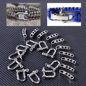 10X Adjustable Stainless Steel U Shaped Shackle Buckle For Paracord Bracelet/_ UL