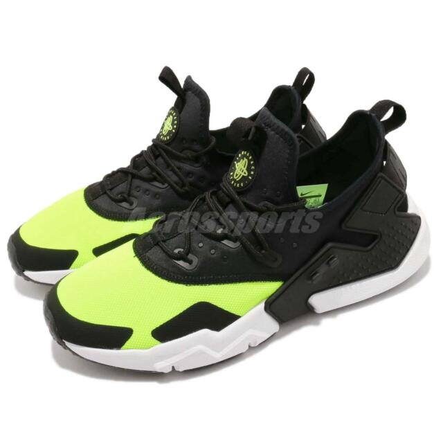cc85e9100059 Nike Air Huarache Drift Volt Black White Men Running Shoes Sneakers  AH7334-700