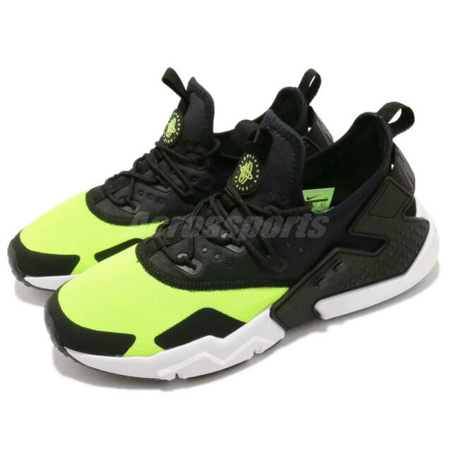 newest 3da45 a1329 Nike Air Huarache Drift Volt Black White Men Running Shoes Sneakers  AH7334-700