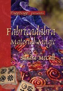 FABRICADABRA-MATERIAL-MAGIC-DVD-PageSage-Sandra-McCall-NEW