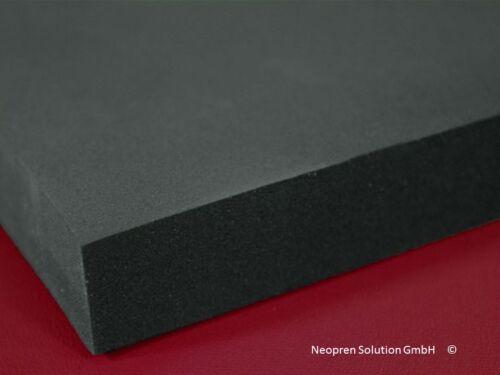 Neopren Meterware extra dick neoprene 15mm ohne Stoff