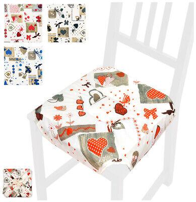Cuscino coprisedia CUORI universale casa cucina copri sedie cotone alette lacci   eBay